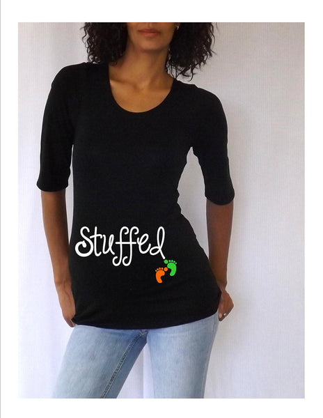 "Thanksgiving Maternity shirt "" Stuffed"" - Maternity clothes"
