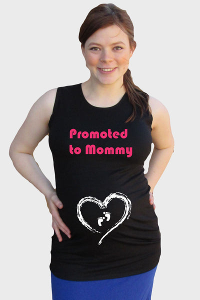 "Maternity ""Promoted to Mommy"" Tank top - Pregnancy Clothes"