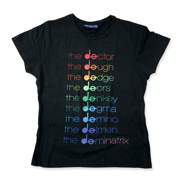 Doctor Rainbow Girls Black T-shirt