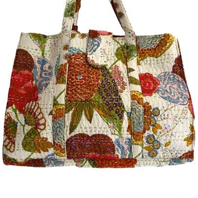 Large floral carry on bag