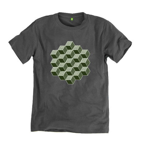 Men's Hexahedron Organic Cotton T-shirt - Shop Loren