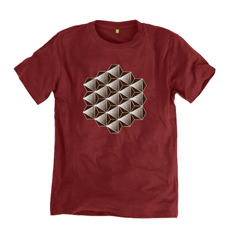 Men's Octahedron Organic Cotton T-shirt - Shop Loren