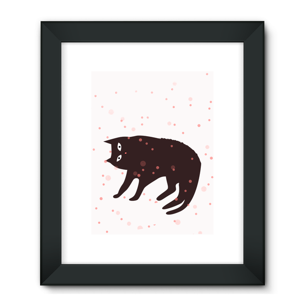 Tickle My Tum Cat Framed Fine Art Print