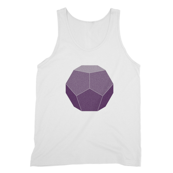 Dodecahedron Sacred Geometry Fine Jersey Tank Top - Shop Loren