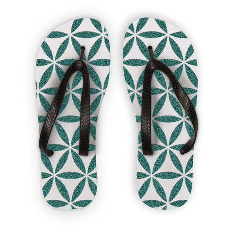 Flower Of Life Flip Flops - Shop Loren