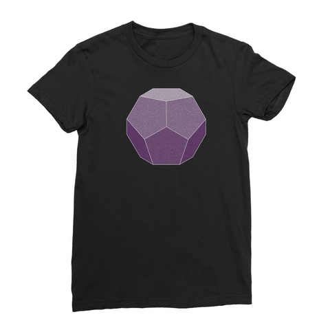 Women's Dodecahedron Sacred Geometry T-Shirt