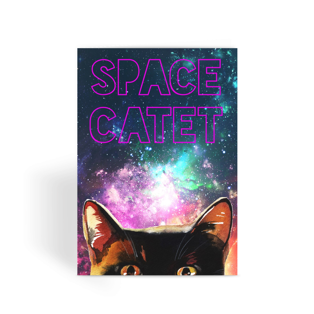 Space Catet Greeting Card