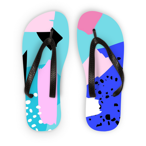Blue Punch Flip Flops - Shop Loren