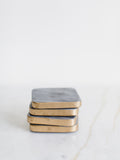 Grey Marble Coaster Set