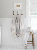 Grey Striped Turkish Towel
