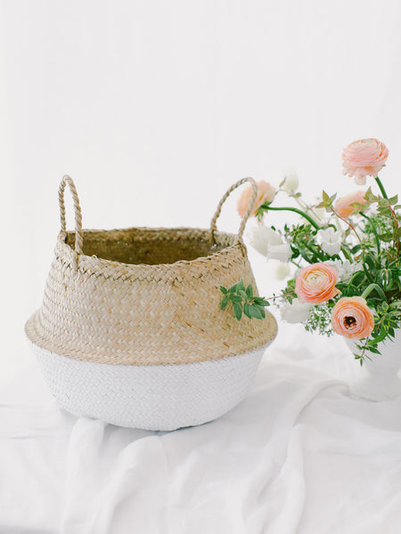 Two-Toned Seagrass Basket