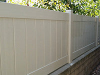 tan vinyl privacy fence panel wholesale