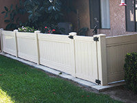 tan vinyl privacy fence panel