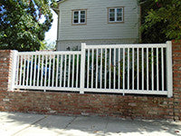 white vinyl closed picket fence panel