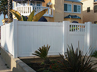 white vinyl privacy fence panel wholesale