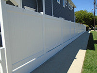 white vinyl privacy fence panel