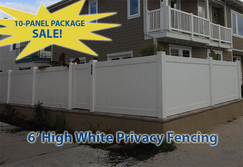 Solid Privacy Vinyl Fencing 10 Panel Package