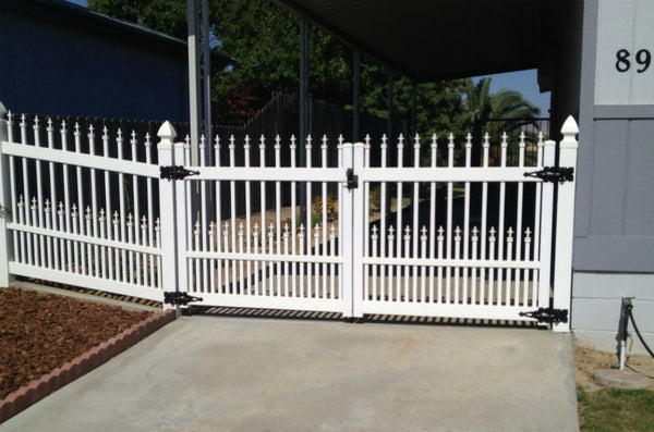 Routed Picket Fence Gate Vinyl Craft