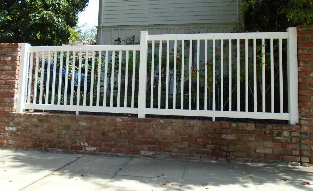 How To Craft A Fence Part - 31: Vinyl Craft White Closed Picket Fencing ...