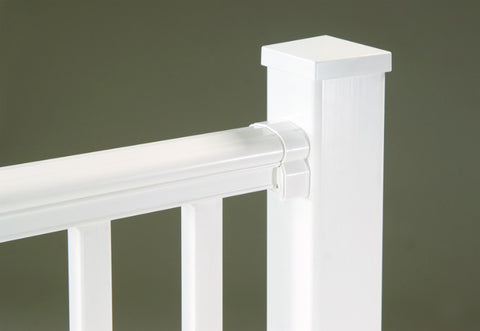 White Vinyl Railing Soft Curved Rail Charleston Series Profile