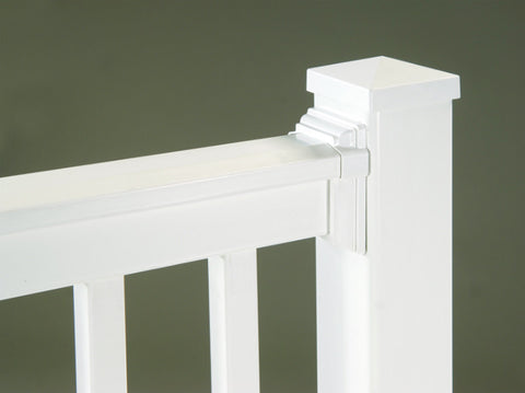 White Vinyl Railing T-Rail Manhattan Series Profile