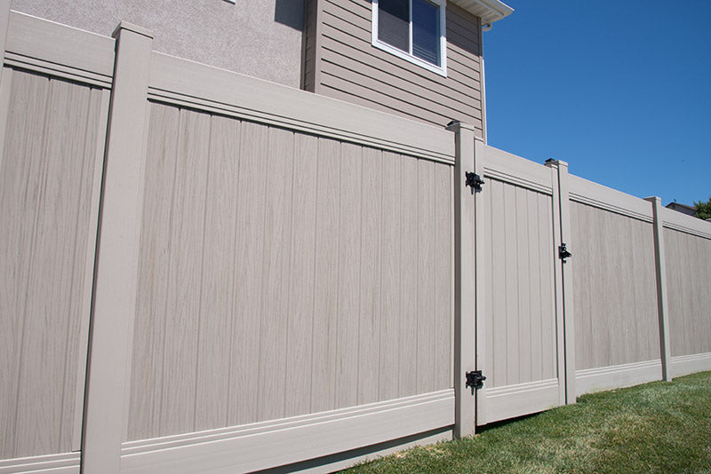 Solid Privacy Fence Panel Specialty Colors Vinyl Craft