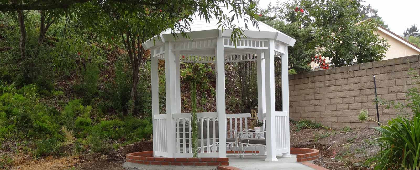 VINYL GAZEBOS & ARBORS ENHANCE YOUR PROPERTY
