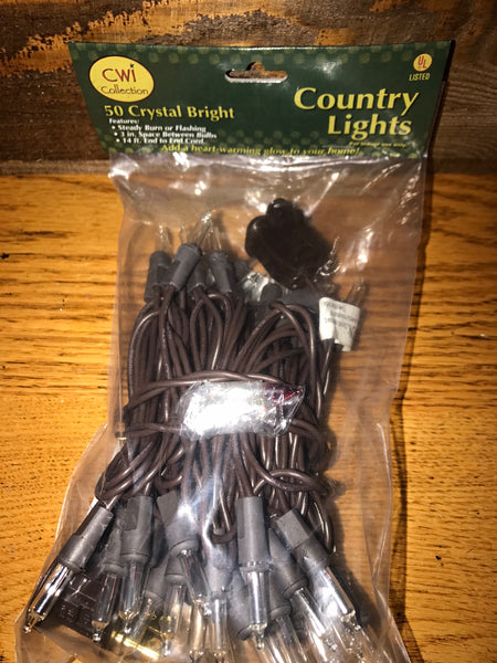 50 Count Country Lights, Crystal Bright