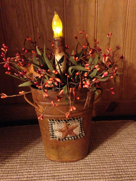 Fall Primitive Crow Tin Arrangement The Drying Shed