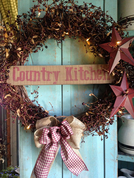 Country Kitchen Wreath