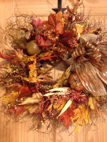 Glitzy Shades of Fall Wreath