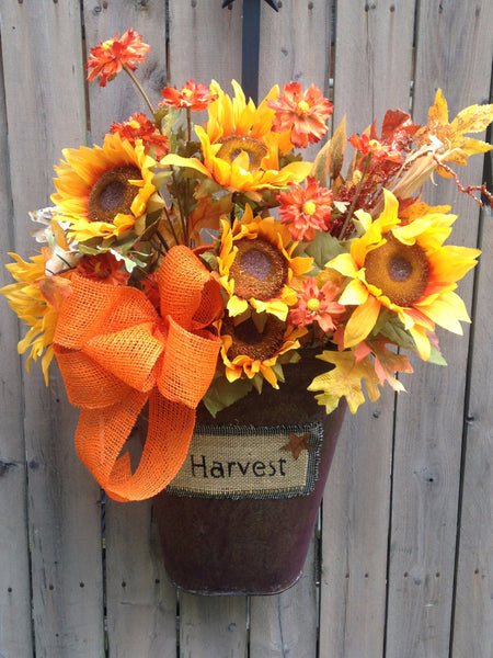 Harvest Tin Door Arrangement