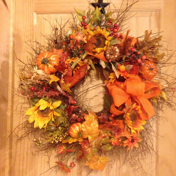 Glitzy Fall Garden Wreath