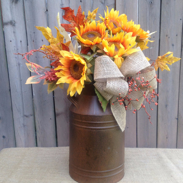 Sunflower Milk Can