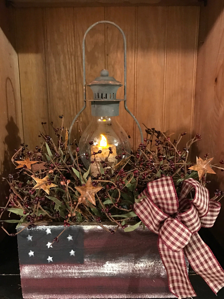 Barnwood Flag Box