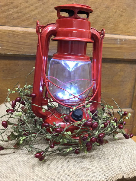 LED Hurricane Red Lantern