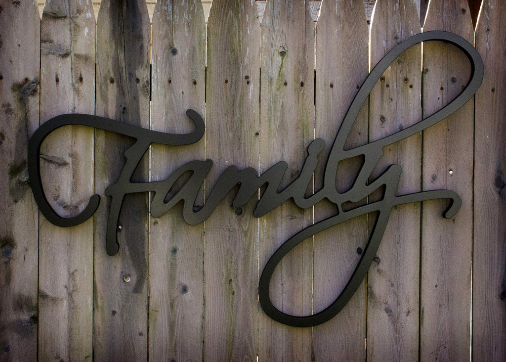 Family Script Wall Hanging