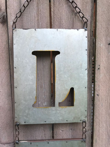 "Metal Wall ""Love"" Hanging Sign"