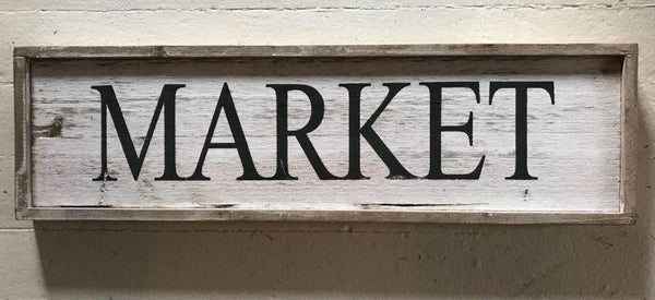 "Wooden ""Market"" Sign"