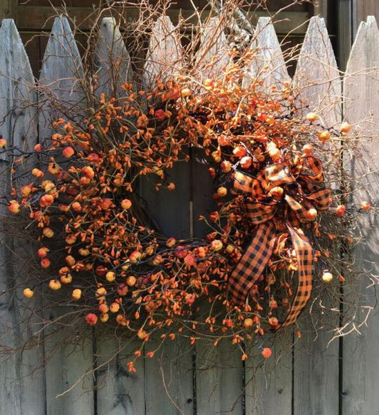 Very Wispy Fall Wreath