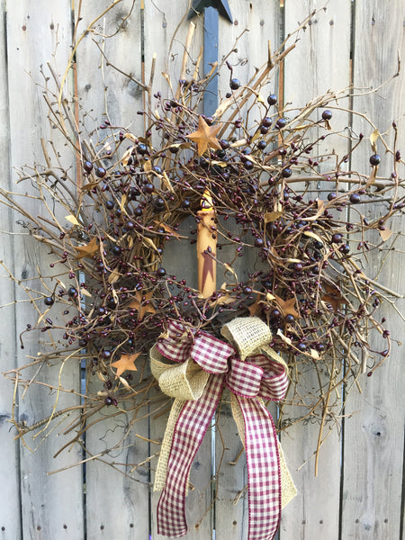 Williamsburg Burgundy Pip Berry Wreath
