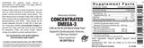 Concentrated Omega-3. 1200 mg Fish Oil Softgels - 60 count