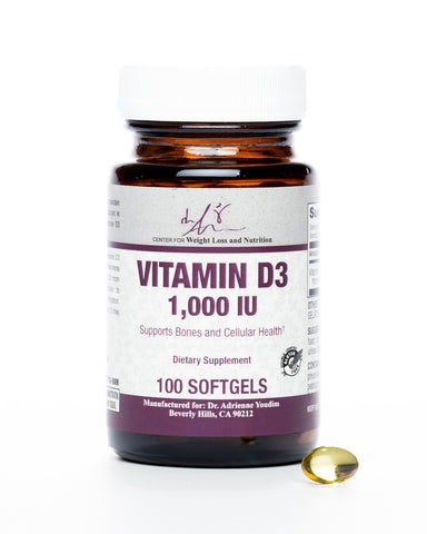 Vitamin D3 -1000 IU Softgels- 100 Count