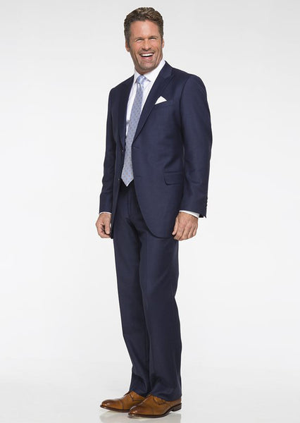 Blue Solid Suit