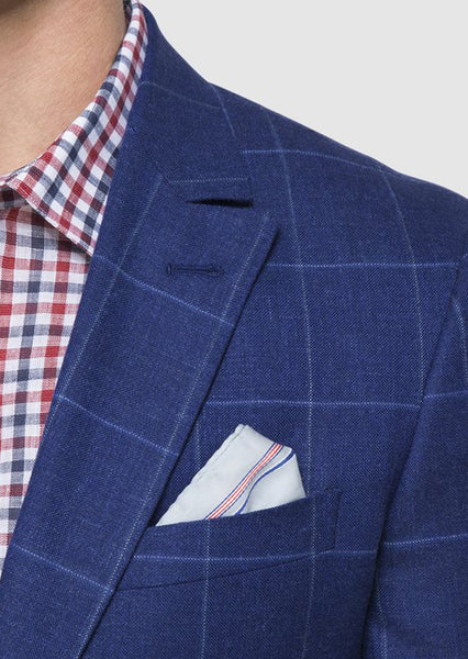 Royal Blue Windowpane