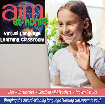 AIM at Home Online Classes - Level 3 - Beginner French for ages 8-13 years - WINTER