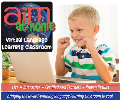 AIM at Home Online Classes - Level 1 - Beginner French for ages 4-7 years - WINTER