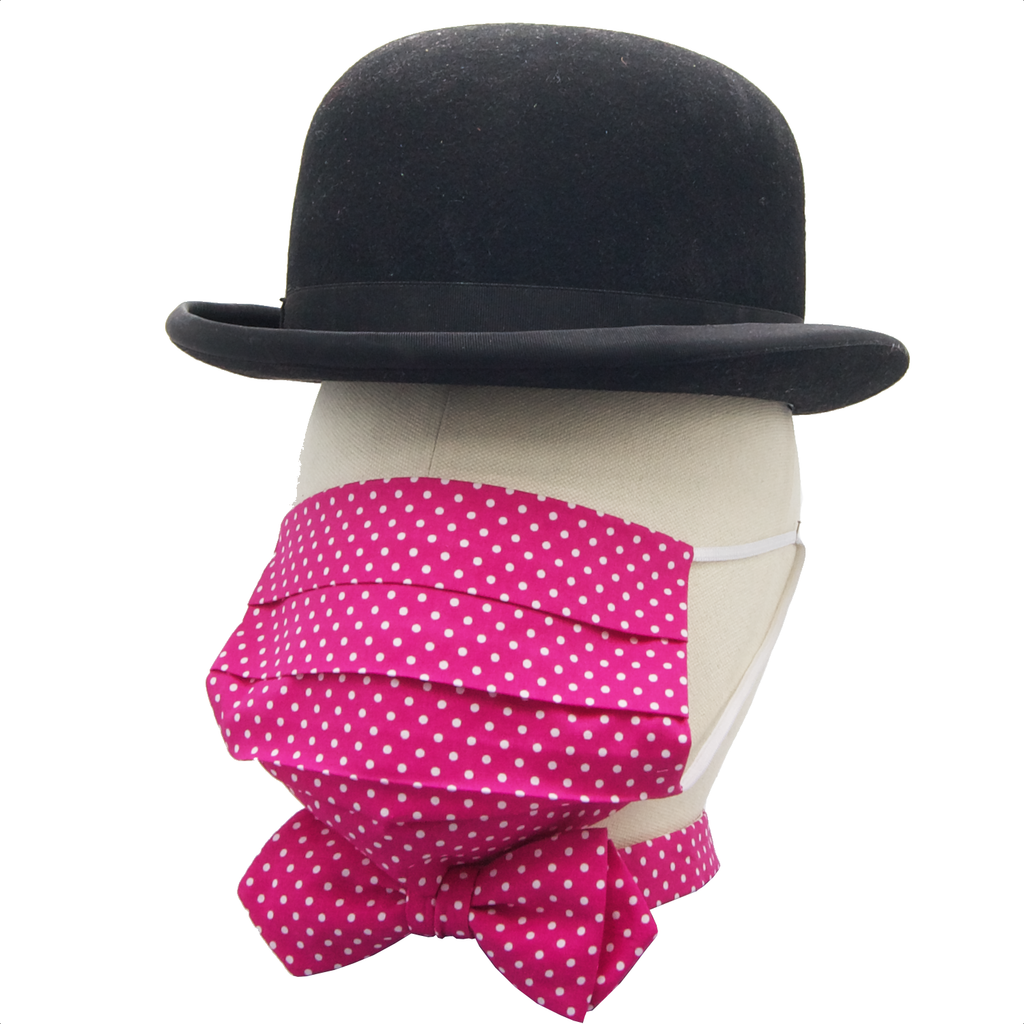 """Pink Dotted Diary"" Maske & Schleife ""Chic"" in Kombination"