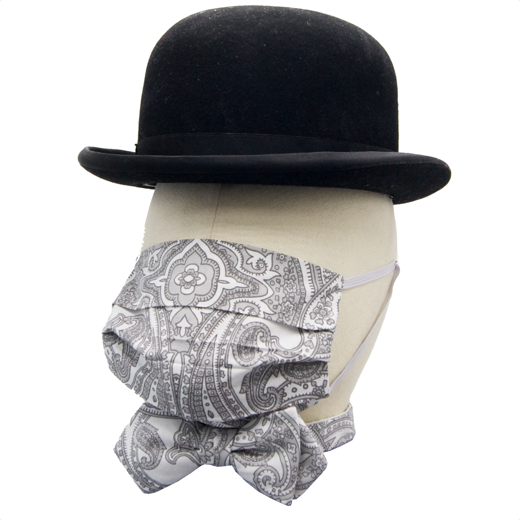 """Grey Salmanazar"" Maske & Schleife ""Chic"" in Kombination"