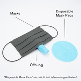 """Light Blue Drops"" Maske in Kombinationen (Seide)"